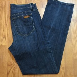 JOE JEANS Dark Wash Factory Distressed Jeans